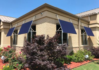 commercial custom canvas window awnings