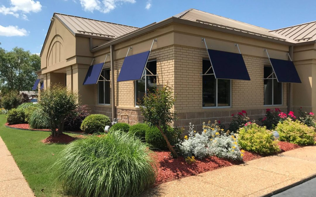 Commercial Window Awnings: Arvest Bank